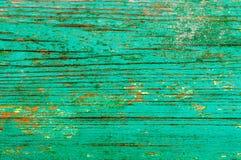 Alte Bretter gemalte grüne Farbe stockfoto