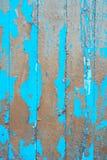Alte Bretter mit flockigem Farbschicht Stockfotografie