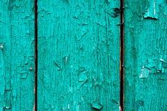 Alte Bretter mit gebrochener cyan-blauer Farbe Strukturierter hölzerner alter Hintergrund mit vertikalen Linien Hölzerne Planken  Stockbilder