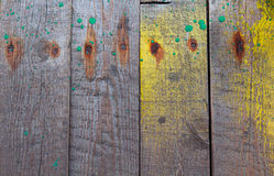 Alte Bretter und Farbenflecke Lizenzfreies Stockfoto