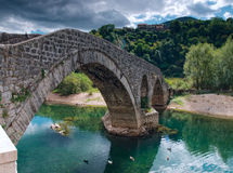 Alte bricked Brücke Lizenzfreie Stockbilder