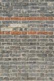 Alte Brickwall-Vertikalenansicht Stockfoto