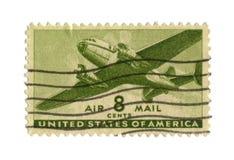 Alte Briefmarke von USA acht Cents Lizenzfreies Stockfoto
