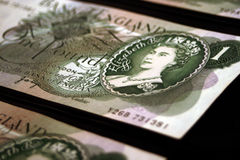 Alte britische Banknoten Stockfotografie