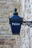 Alte britische Polizei-Blau-Lampe Lizenzfreie Stockfotografie