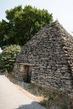 Alte Bronzezeitalterhäuser Bories in Provence, Frankreich Stockbild