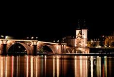 Alte Brucke, γέφυρα της Χαϋδελβέργης, Γερμανία Στοκ Εικόνες
