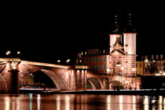 Alte Brucke, γέφυρα της Χαϋδελβέργης, Γερμανία Στοκ φωτογραφία με δικαίωμα ελεύθερης χρήσης
