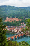 Alte Brucke bridge, Heidelberg through fir tree Royalty Free Stock Image
