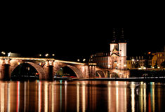 Alte Brucke, Heidelberg bridge, Germany stock images