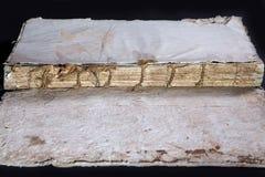 Alte Bucheinband-Weinlesebeschaffenheit lokalisierte verbindlichen Papierbuchstaben Yid des schwarzen Manuskriptes des Hintergrun Lizenzfreies Stockfoto