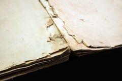 Alte Bucheinband-Weinlesebeschaffenheit lokalisierte verbindlichen Papierbuchstaben Yid des schwarzen Manuskriptes des Hintergrun Lizenzfreies Stockbild