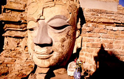 Alte Buddha-Bilder, Chiang Mai, Thailand Lizenzfreies Stockfoto