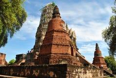 Alte Buddha-Pagode auf Hintergrund des blauen Himmels Lizenzfreies Stockfoto