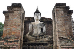 Alte Buddha-Skulptur Stockbild