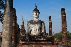Alte Buddha-Skulptur Lizenzfreie Stockfotos