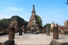 Alte Buddha-Skulptur Stockfotos