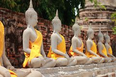 Alte Buddha-Statue Stockfotografie