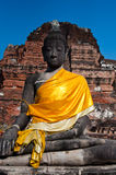 Alte Buddha-Statue, Ayudhaya Lizenzfreie Stockbilder