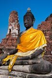 Alte Buddha-Statue, Ayudhaya Lizenzfreie Stockfotos