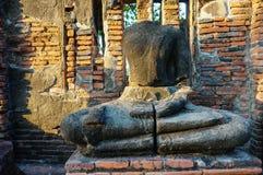 Alte Buddha-Statue in Ayutthaya, Thailand Stockbild