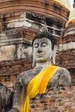 Alte Buddha-Statue bei Wat Yai Chaimongkol, Ayutthaya Lizenzfreies Stockfoto
