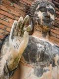 Alte Buddha-Statue in Lage Vitarka Mudra, Sukhothai-Provinz, Thailand Stockbilder
