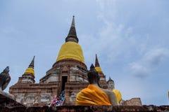 Alte Buddha-Statue am Tempel in Ayutthaya, Thailand Stockbild