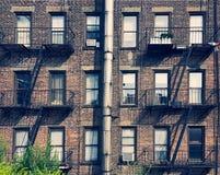 Alte Buiding-Fassade in Manhattan Lizenzfreies Stockfoto