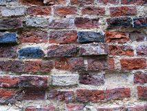 Alte bunte Backsteinmauerbeschaffenheit Stockfoto