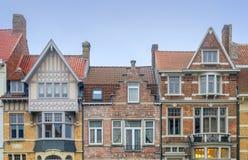 Alte bunte Fassaden Stockfotografie