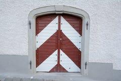 Alte bunte Tür Stockbilder