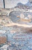 Alte byzantinische Karte des Heiligen Landes, Madaba - 2 Stockfoto