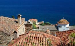 Alte byzantinische Stadt Monemvasia, Griechenland Lizenzfreie Stockfotos