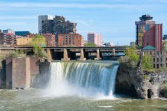 Alte cadute di Rochester, New York Fotografie Stock