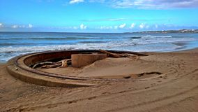 Alte Canon-Abschussrampe in Puerto Rico Stockfotografie