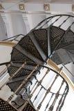Alte Carpano-Wermutfabrik bei Eataly, Turin Italien Foto zeigt Spiralentreppe und Detail der ursprünglichen Architektur lizenzfreie stockbilder