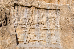 Alte Carvings an Friedhof Naqsh-e Rustam im Iran Stockfoto