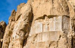 Alte Carvings an Friedhof Naqsh-e Rustam im Iran Stockbild