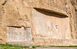 Alte Carvings an Friedhof Naqsh-e Rustam im Iran Lizenzfreie Stockfotos
