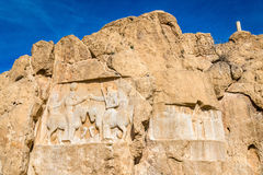 Alte Carvings an Friedhof Naqsh-e Rustam im Iran Lizenzfreie Stockbilder