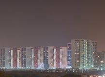Alte case Vista di notte Fotografie Stock