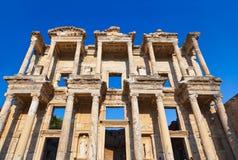 Alte Celsiusbibliothek in Ephesus die Türkei Lizenzfreies Stockfoto