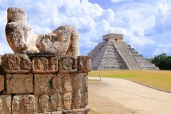 Alte Chac Mool Chichen Itza Abbildung Mexiko Lizenzfreie Stockfotografie