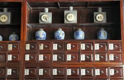 Alte chinesische Apotheke Stockbild