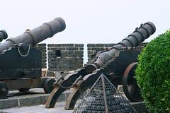 Alte chinesische Artillerie lizenzfreie stockfotos