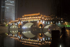 Alte chinesische Brücke Lizenzfreie Stockfotos