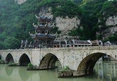 Alte chinesische Brücke Stockfotos