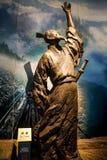 Alte chinesische Dichter Qu Yuan-Statue Stockbild