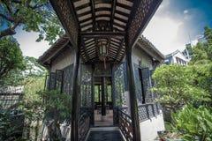Alte chinesische Garten-Wohnungen Stockbilder